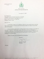 Vermont Governor Thanking letter